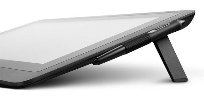 Detalhe do suporte da mesa digitalizadora Cintiq 16