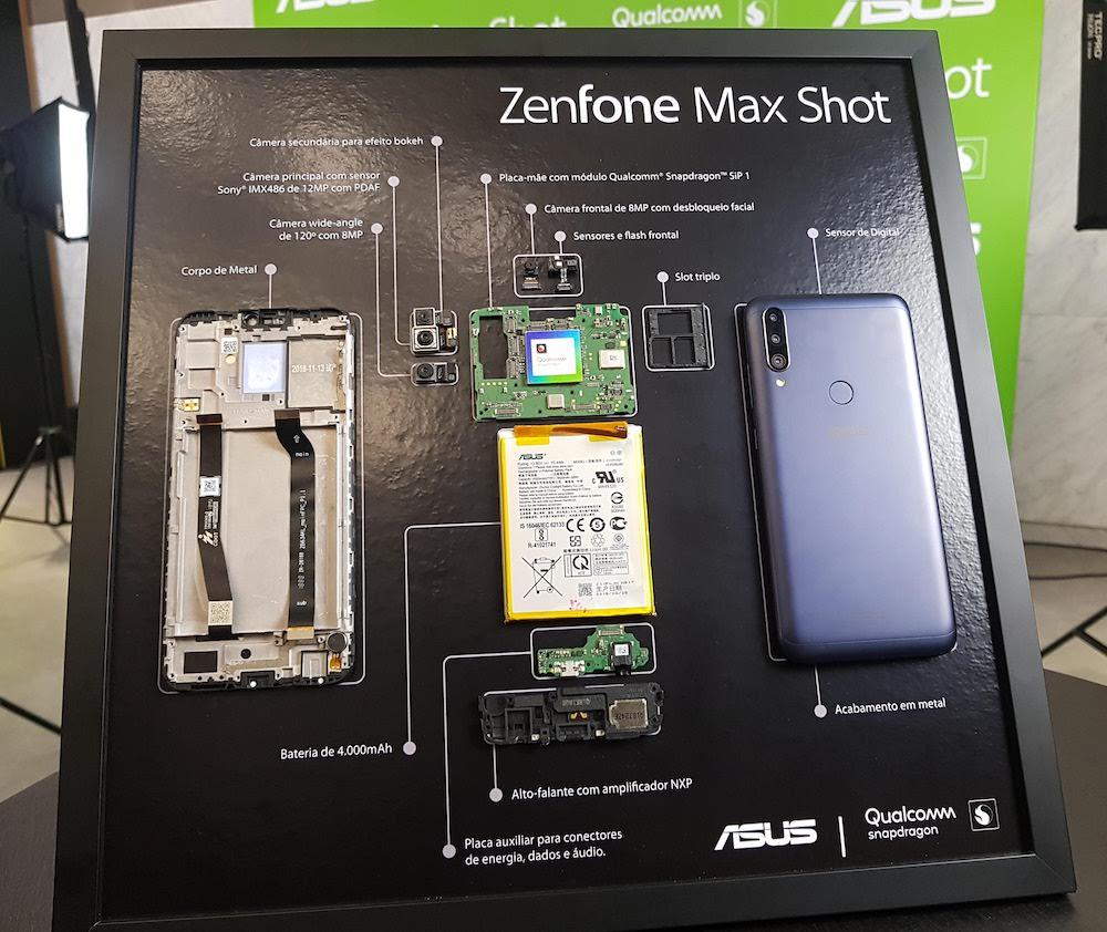 Novos smartphones Zenfone Max Shot e Zenfone Max Plus (M2) da Asus são equipados com o Snapdragon SiP, uma plataforma da Qualcomm com componentes para smartphones