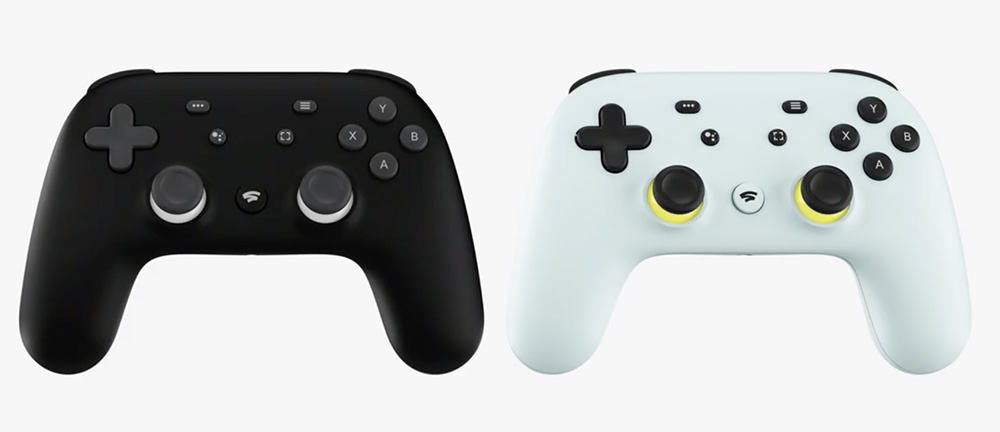 Controles do Google Stadia