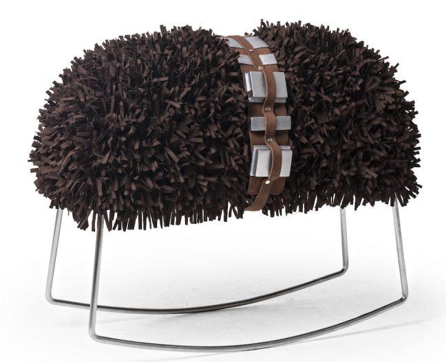 Banco Chewie faz parte da linha de móveis de luxo inspirada em Star Wars