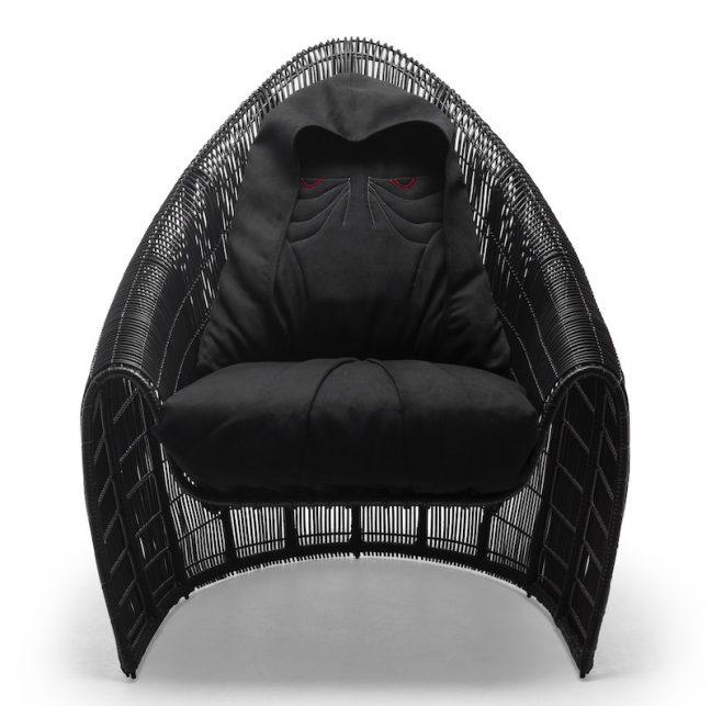 Cadeira Darth Sidious faz parte da linha de móveis de luxo inspirada em Star Wars