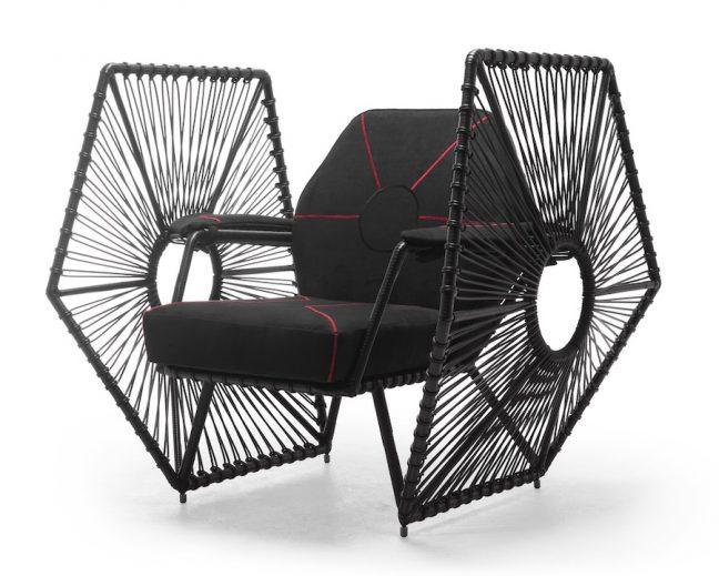 Cadeira Tie-Fighter faz parte da linha de móveis de luxo inspirada em Star Wars