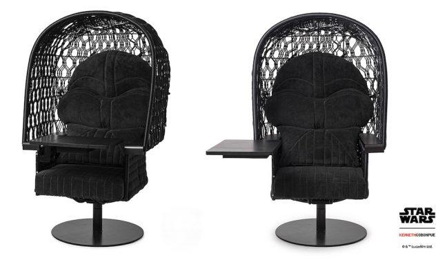 Cadeira com mesa Darth Vader faz parte da linha de móveis de luxo inspirada em Star Wars