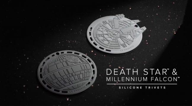 Descansos de silicone da linha Le Creuset inspirada em Star Wars