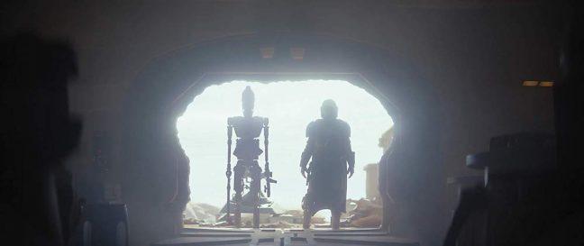 IG-11 e o Mandaloriano trabalham juntos neste primeiro episódio