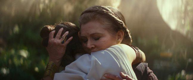 Leia e Rey em A Ascensão Skywalker