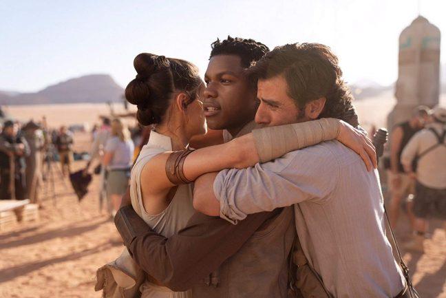 Rey, Finn e Poe