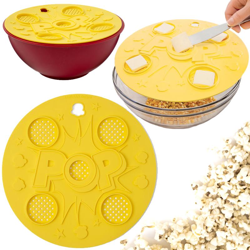 """""""Think Outside the Bag Popcorn Lid"""" – Pipoca Amanteigada no Microondas sem Químicos e Conservantes miniatura"""