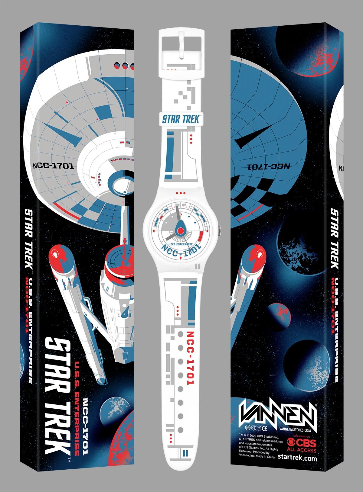 Relógios de Pulso Vannen Star Trek USS Enterprise