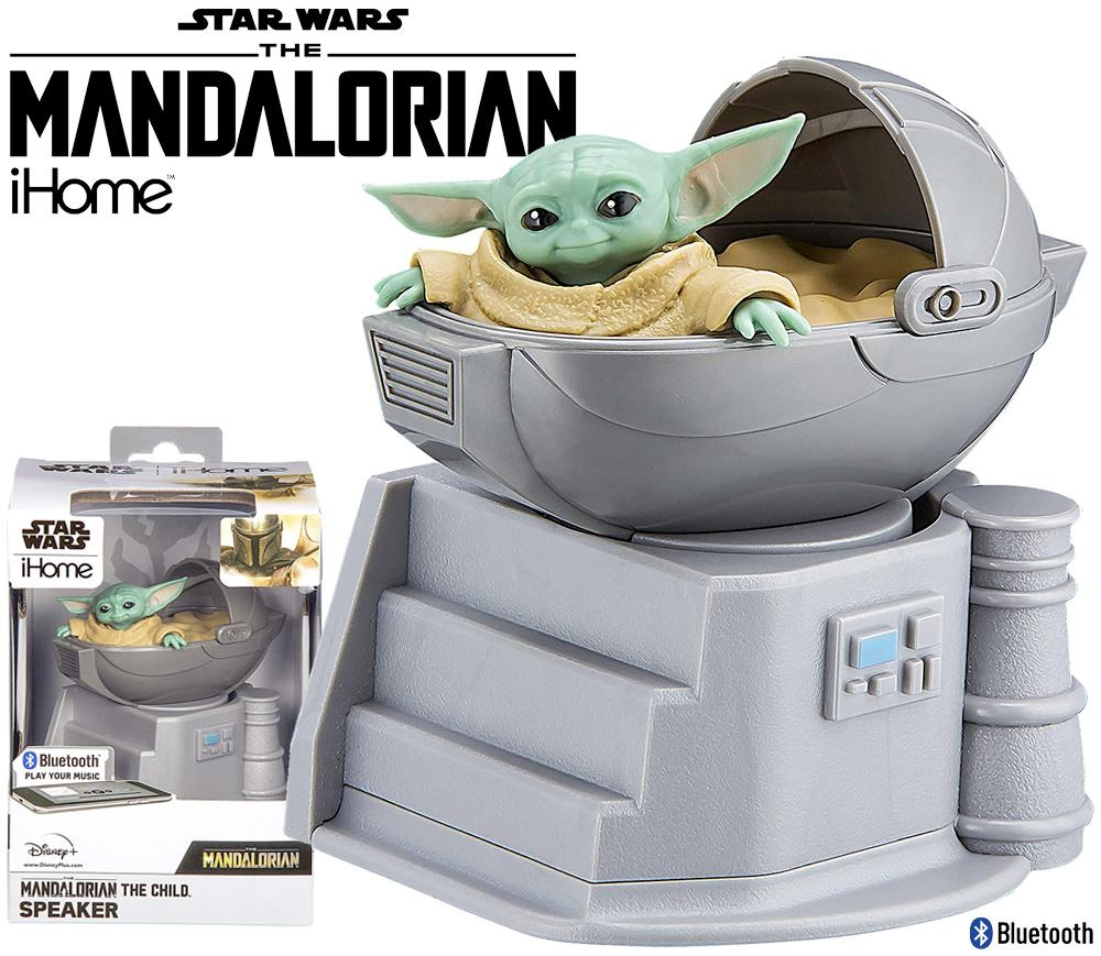 Caixa de Som Bluetooth The Child Star Wars The Mandalorian Speaker eKids
