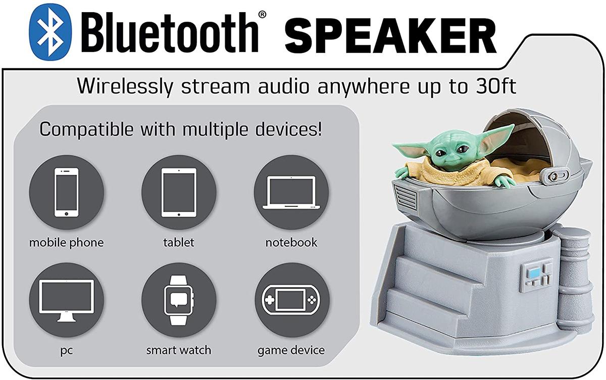 The Child Star Wars The Mandalorian Bluetooth Speaker eKids