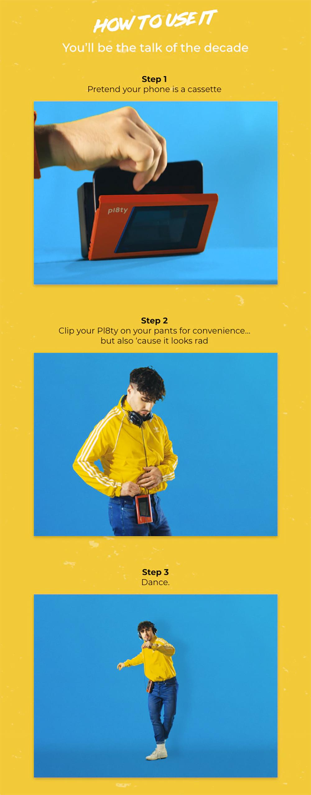 Caixa de Som Pl8ty Imita um Walkman dos Anos 80 miniatura