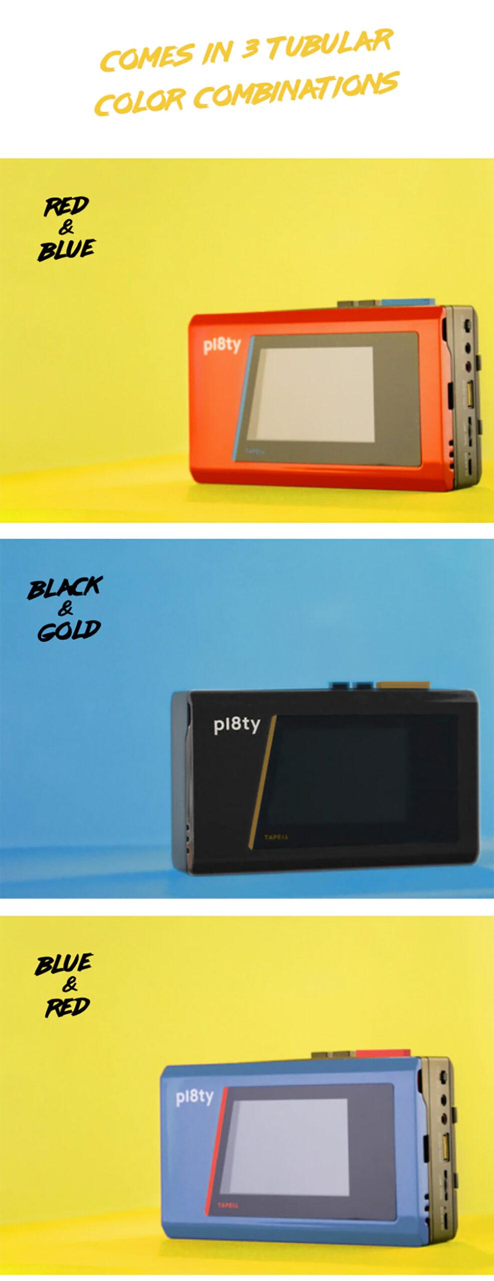 Caixa de Som Pl8ty Portable Bluetooth Speaker