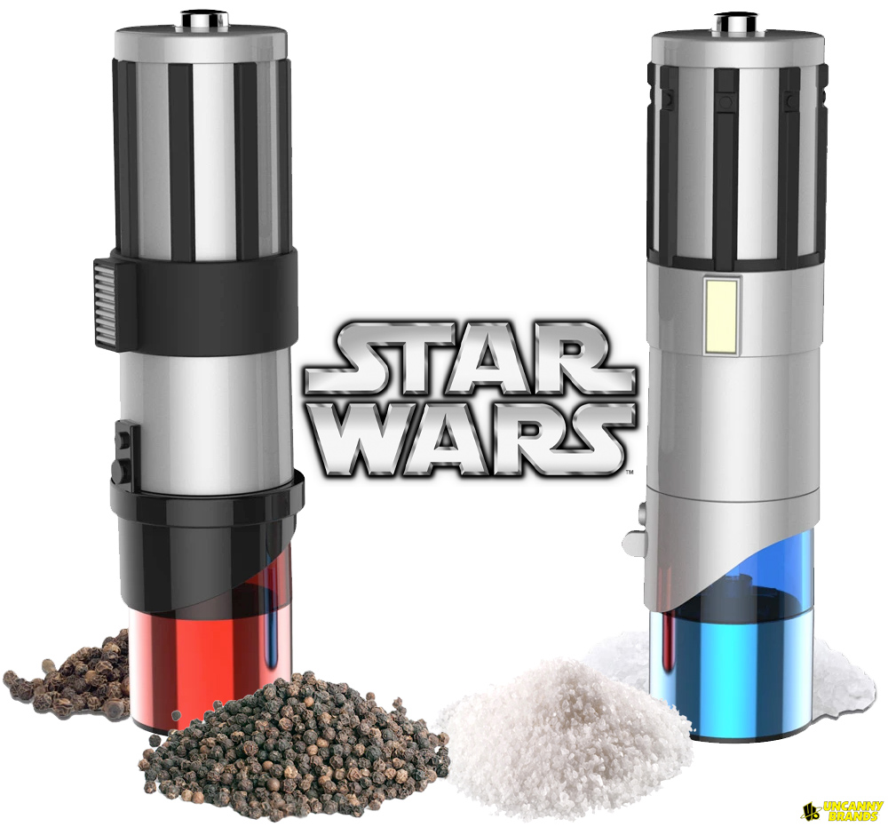 Moedor Eletrico de Sal e Pimenta Star Wars Lightsabers Eletric Salt and Pepper Mill Grinders