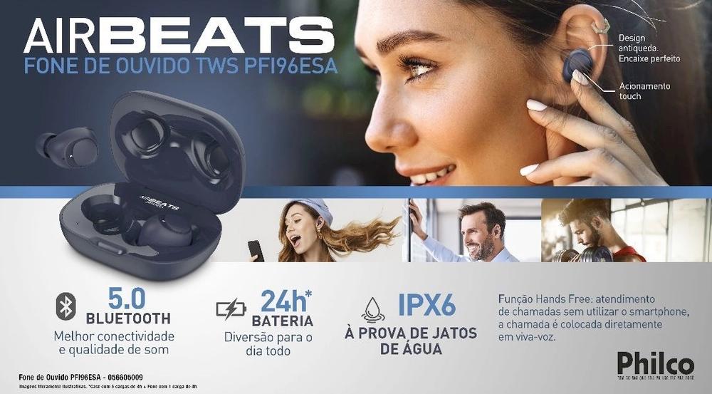 Fone de Ouvido Air Beats Philco