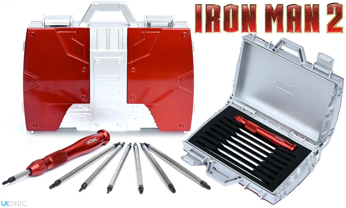 Caixa de Ferramentas Marvel Iron Man 2 Replica Briefcase Tool Kit