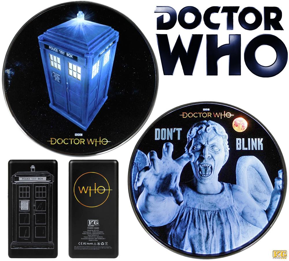 Carregadores Sem Fio e Power Bank Doctor Who