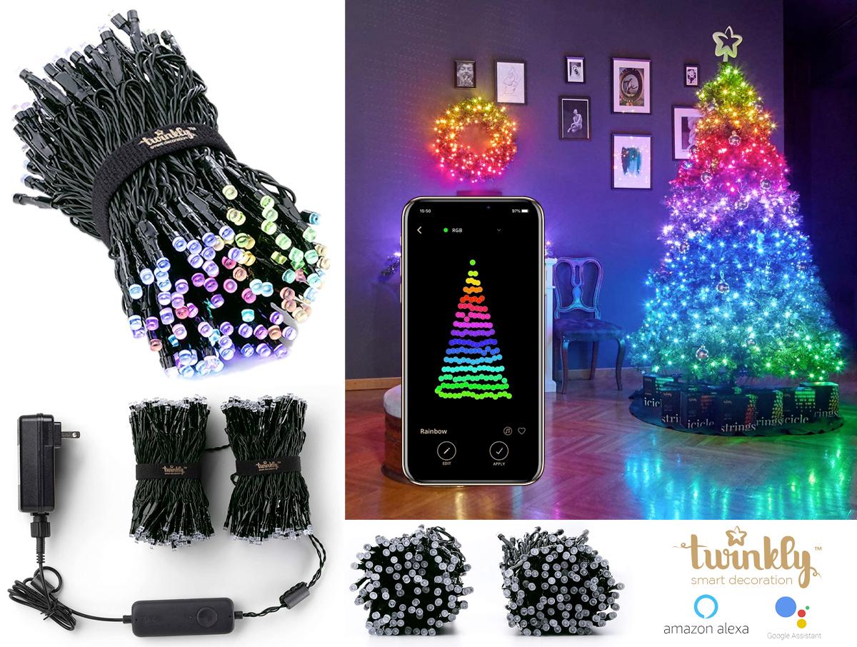 Luzes de Natal Inteligentes Twinkly Smart Multicolor LED