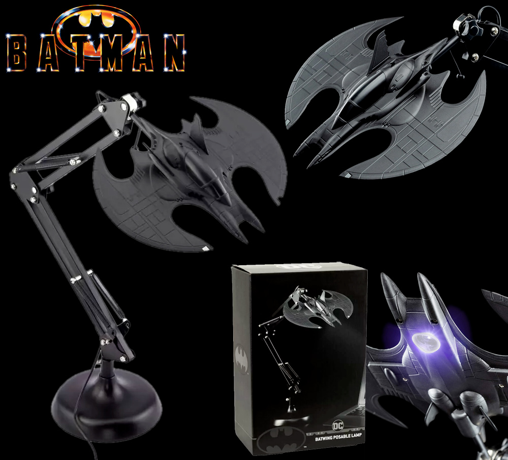 Luminaria Arquiteto Batwing Posable Batman Desk Light