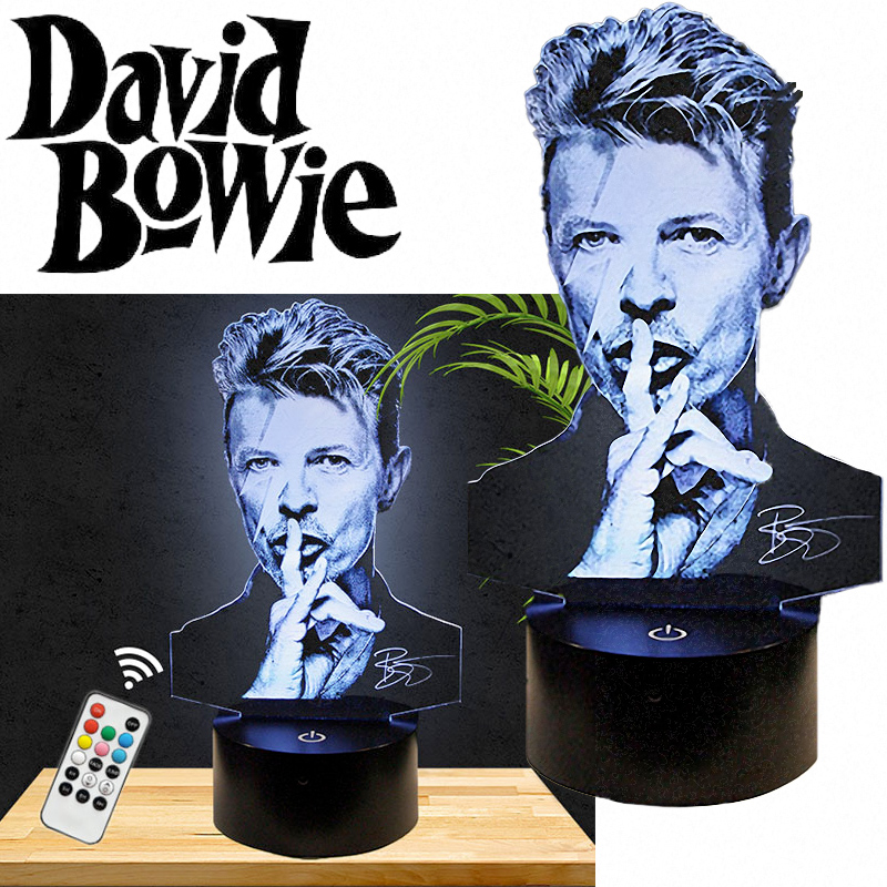 Luminaria David Bowie 3D LED Lamp