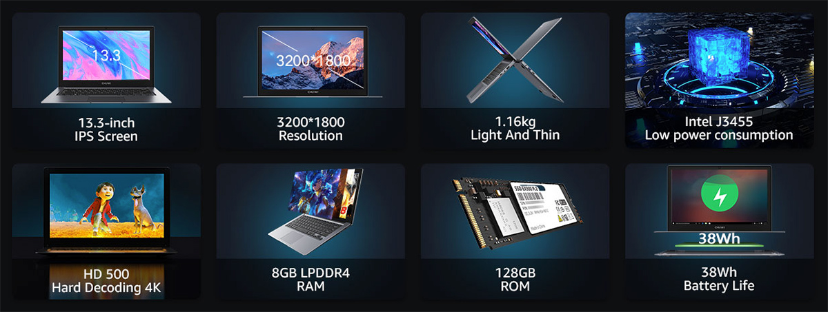 Notebook Chuwi HeroBook Pro Plus