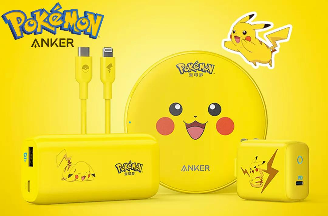 Carregadores Anker Pokemon Official Pikachu Series Charger Set