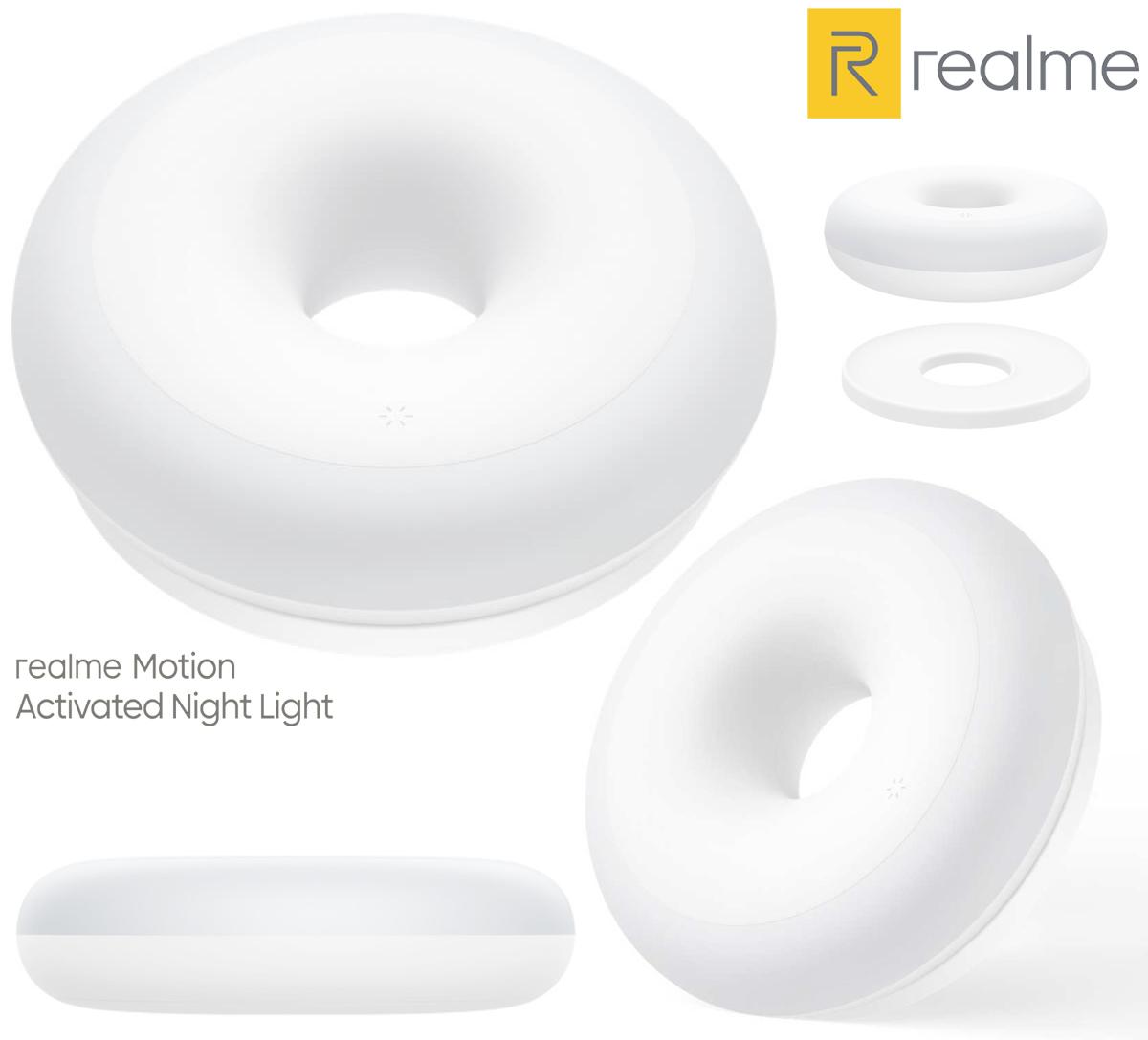 Luz Noturna Realme Night Light com Forma de Donut e Sensor de Movimentos miniatura