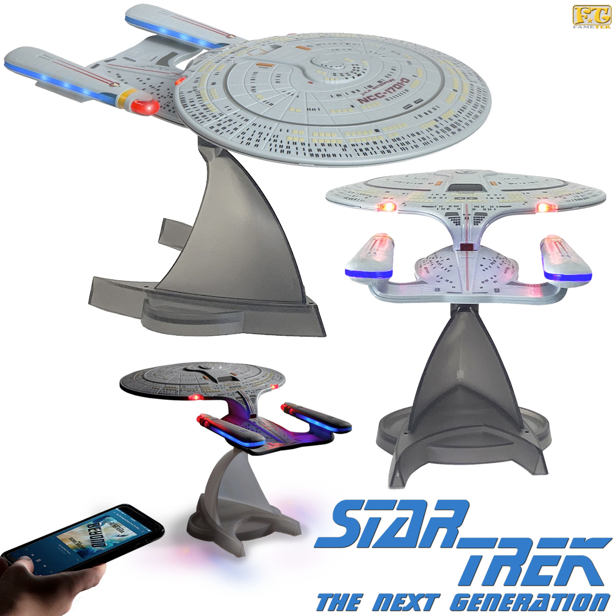 Caixa de Som Star Trek TNG USS Enterprise NCC-1701-D Bluetooth Speaker