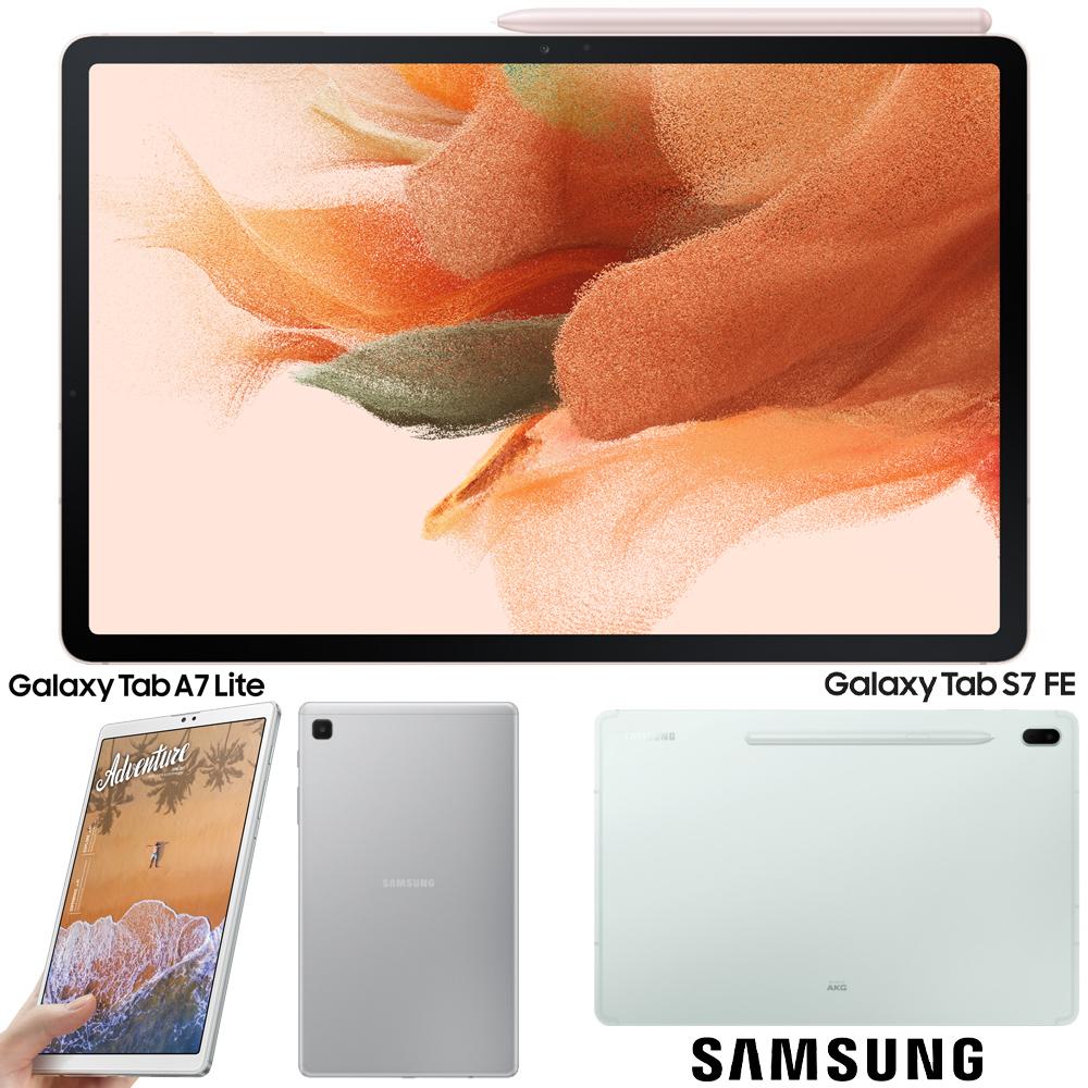 Tablets Samsung Galaxy-Tab-S7-FE e Galaxy Tab A7 Lite