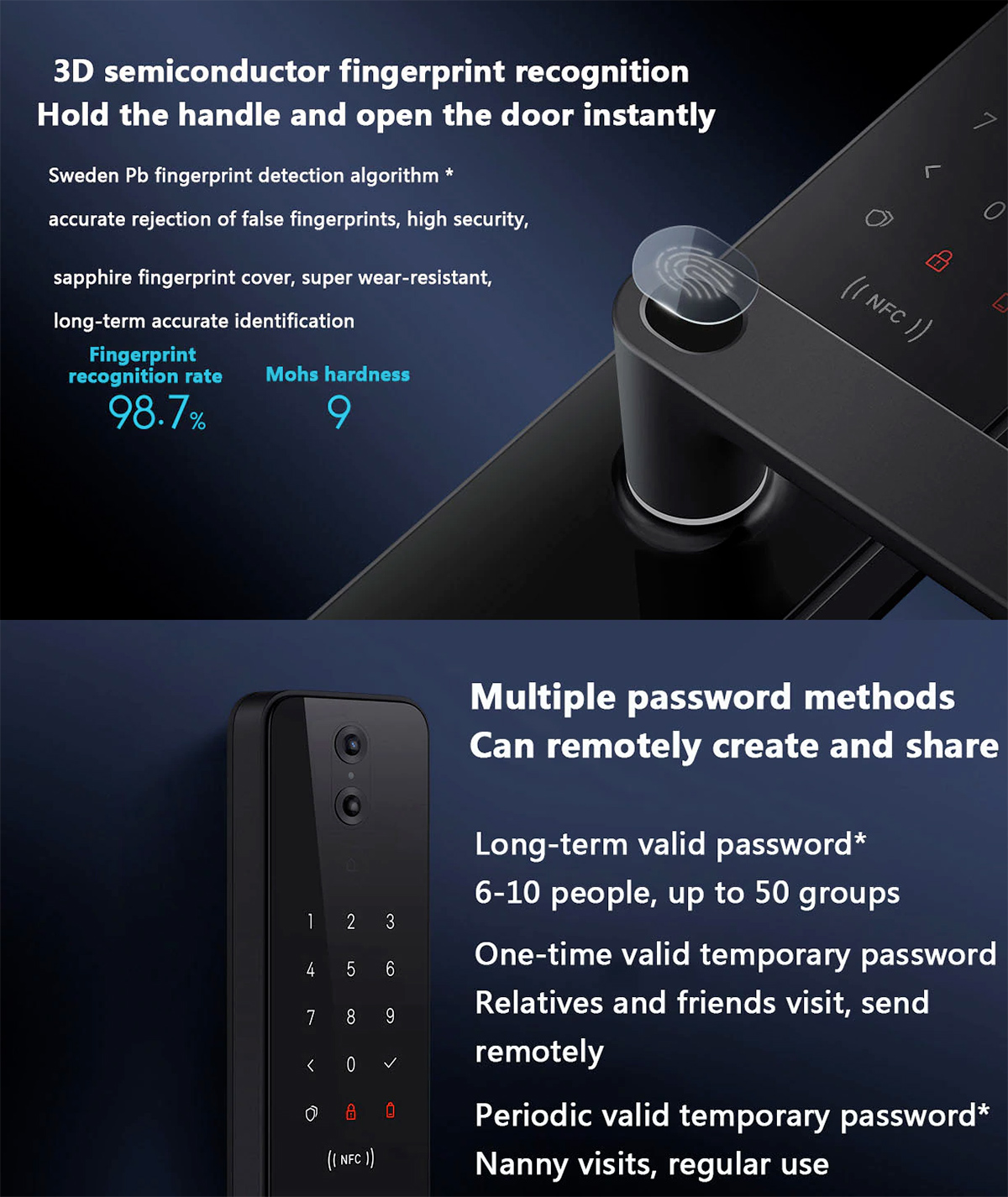 Fechadura Digital Inteligente Xiaomi Smart Door Lock Pro