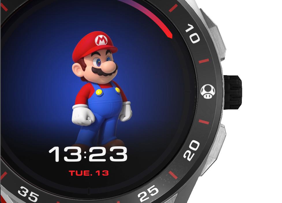 Relógio Tag Heuer x Super Mario Smartwatch