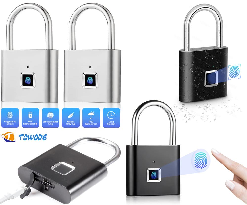 Cadeado com Impressão Digital Towode Smart Fingerprint Lock miniatura