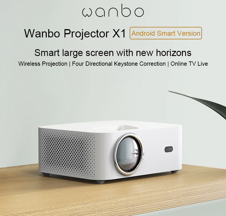 Projetor Inteligente Xiaomi Wanbo X1 Android Smart Projector