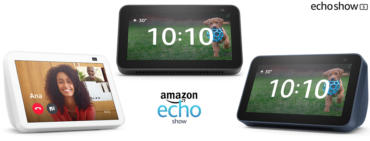 Novos Echo Show 5 e Echo Show 8