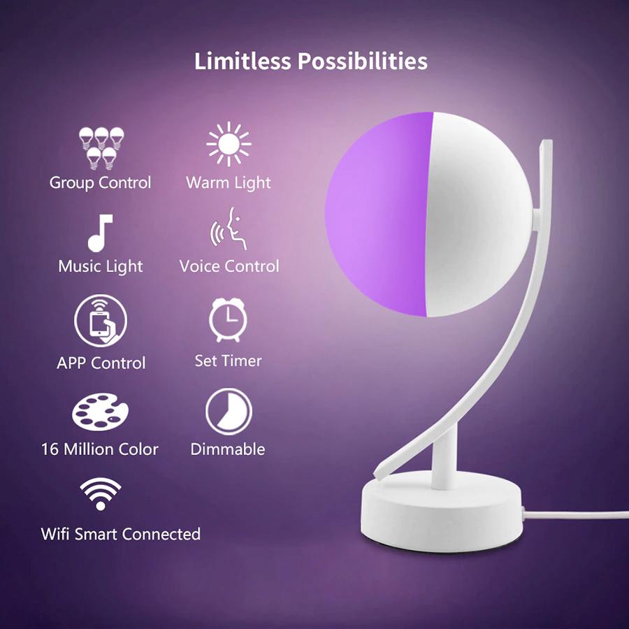 Luminaria de Mesa Inteligente Newstyle RGB Smart Desk Lamp