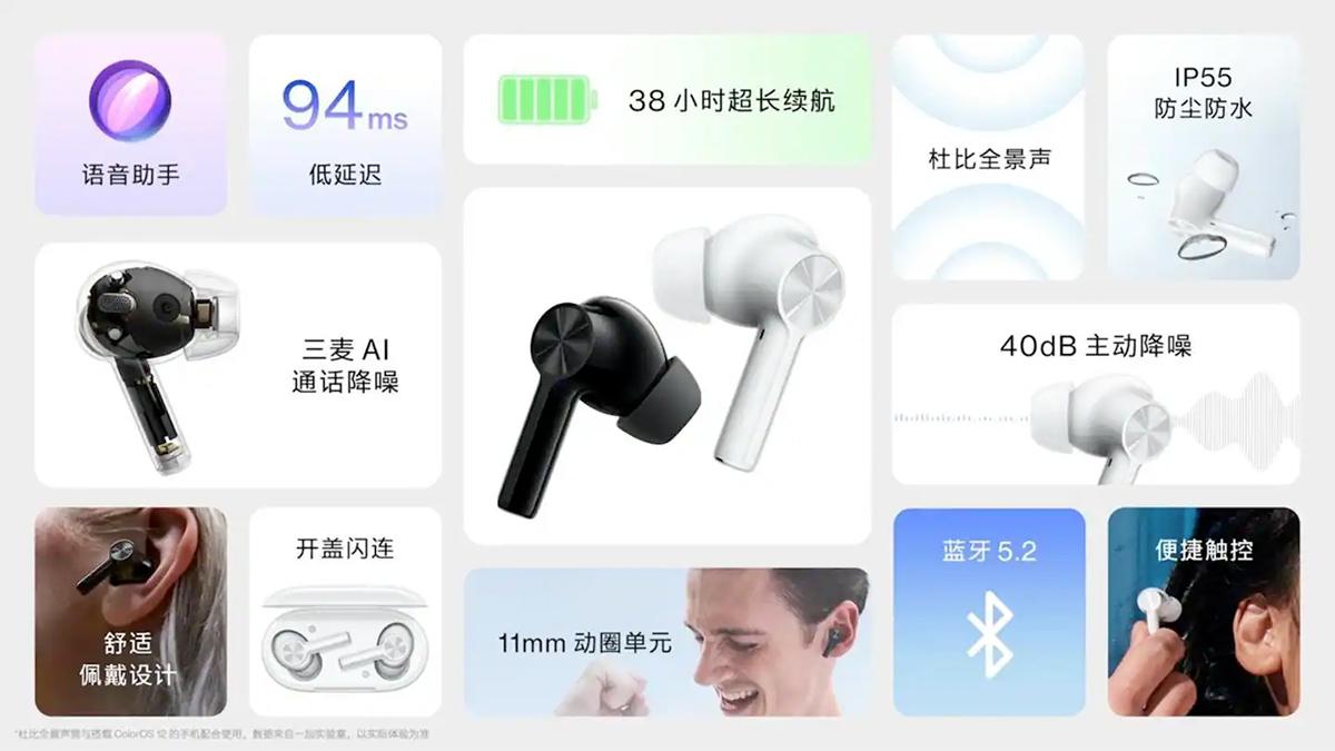 Fone de Ouvido OnePlus Buds Z2