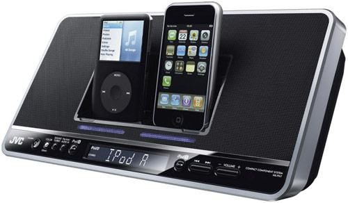 Sistema de Som da JVC com Dock Duplo para iPod!