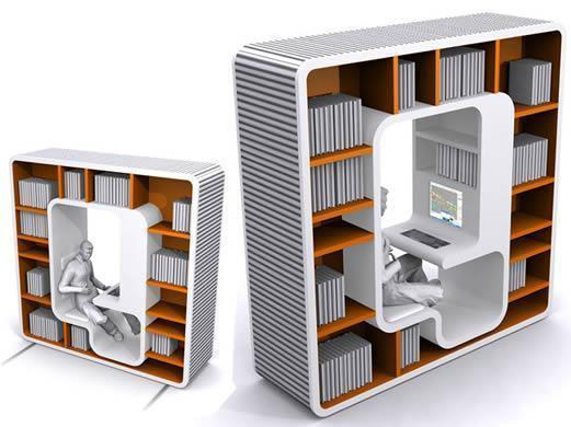 Arcade Pod Workstation, Trabalhe Dentro da Estante