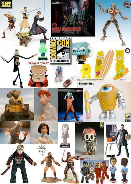 San Diego Comic-Con 2008 no Blog de Brinquedo!