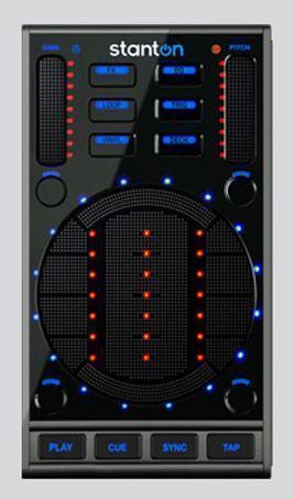Stanton DaScratch com MIDI Control Pad Sensível ao Toque