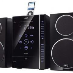 Boombox JVC com Controles Sensíveis ao Toque e Dock para iPod