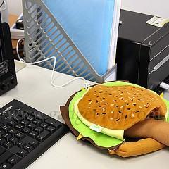 Mouse Pad em formato de Hamburguer com aquecimento via USB!