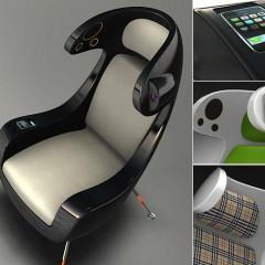 Media Chair, Uma Cadeira com Dock para iPod e Projetor