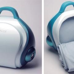 Um mini aparelho de som que vira cama!