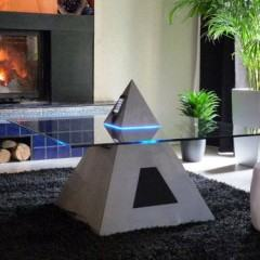 Linda Mesa de Centro Piramidal com dock para iPod!