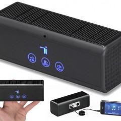 Caixa de Som Bluetooth Portátil com Painéis Solares