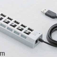 Hub USB com Interruptores