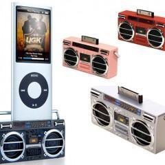 Mini-Boombox Speaker para iPod
