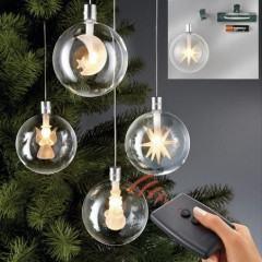 Bolas de natal com LEDs e Controle Remoto