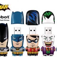 Flash Drives Mimobot da DC Comics: Batman, Robin, Coringa e Mulher Gato